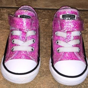Converse Size 5 Toddler Glitter Pink Shoes